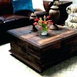 Столик из старого сундука