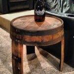 Круглый столик из бочки
