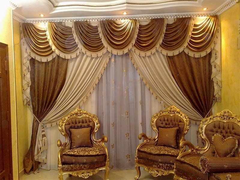 Дизайнерские шторы в гостиной