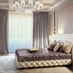 Сочетание золотого с другими цветами в интерьере спальни