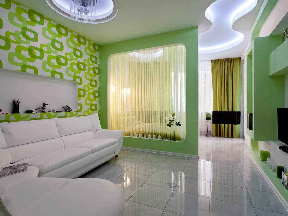 Просторная спальня-гостиная