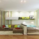 Зонирование современной гостиной